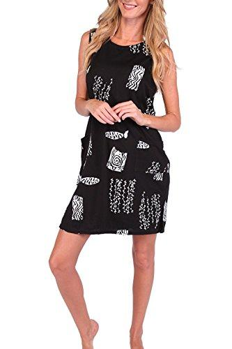 0a7e0d9061 Ingear Beach Summer Shift Dress Short Cotton Tank Dress Cover Up ...