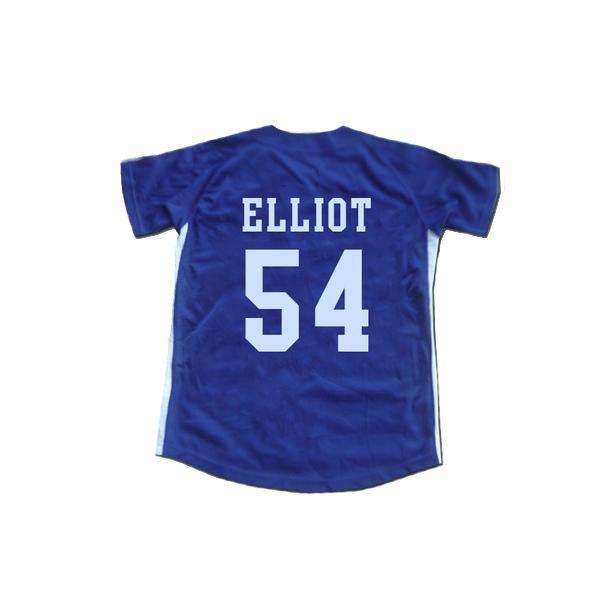 Reminiscência Chunichi Dragons Jack Elliot Mr. Baseball Filme Jersey Azul Ponto Sewn New Custom qualquer nome de qualquer número rápido frete grátis