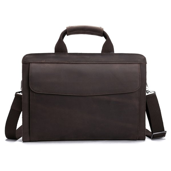 YISHEN Genuine Leather Crazy Horse Men Handbags Vintage Business Men Briefcase Laptop Bags Messenger Shoulder Bags LS0214 #208853