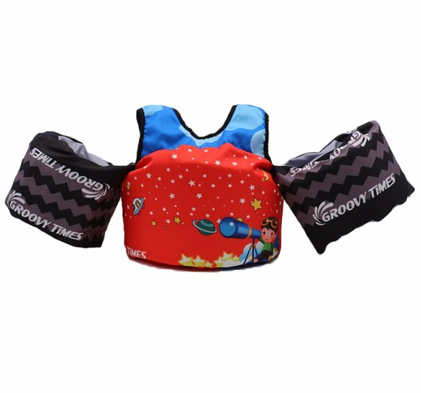 Life Jacket, Life Vest and Arm Rings for Kids Swimming Learners, Jumper Deluxe Jacket, 30-50 lbs