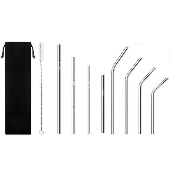 Kullanımlık Paslanmaz Çelik Payet İçme 16 cm / 18 cm / 21.5 cm / 24.5 cm / 26.7 cm Kısa Uzun Smoothie Payet İçme Bar İçme Aracı