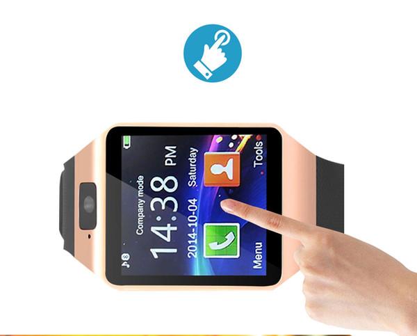 Android iPhone Xiaomi Rusya T15 için Kamera 2G SIM TF Kart Yuvası Smartwatch Telefon Apple İzle için Bluetooth Smart İzle DZ09