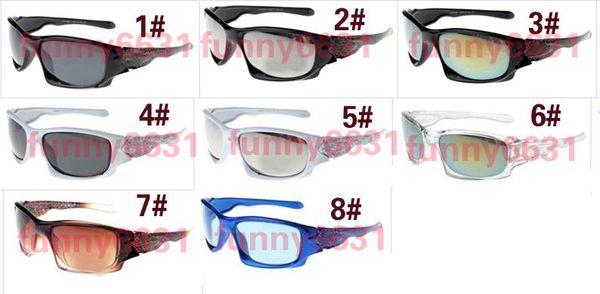 MOQ=10PCS brand New Factory Price sunglasses sports cycling sunglasses for man and woman fashion colour mirrors graffiti frame free shipping
