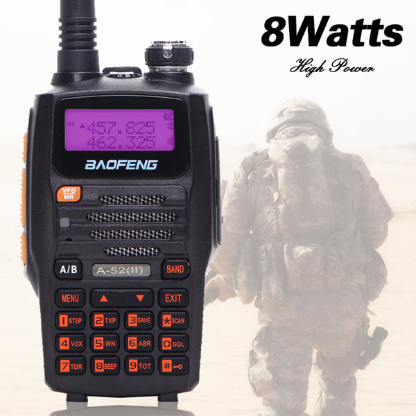 Baofeng A-52 II 8watts Powerful Walkie Talkie 10km Long Range HF Transceiver Upgrade of A52 UV-5R CB Two Way Portable Radio