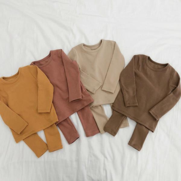 Printemps Bébé Garçon Fille Coton Vêtements Pyjamas Set vêtements de nuit pour la tenue du nouveau-né bébé Enfants Tissu Enfant Vêtements T191212