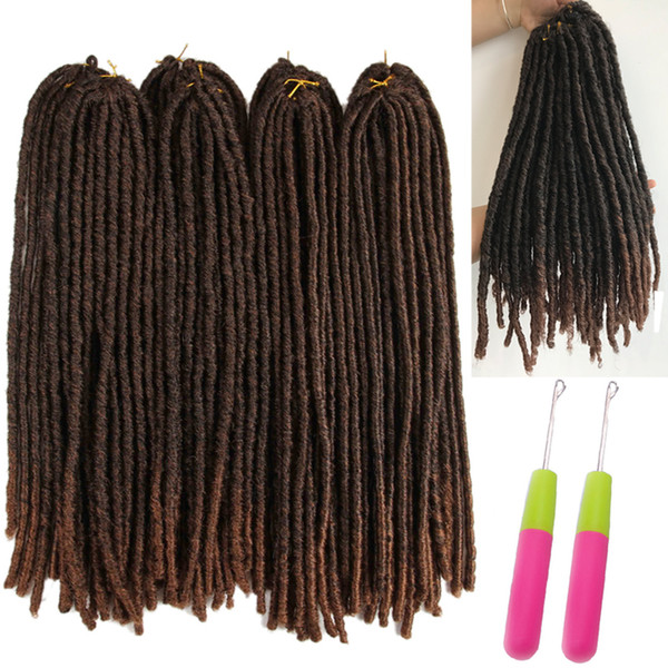 Lucky Queen 18-26 pulgadas Soft Dreadlocks Crochet Braids Jumbo Dread Hair style Ombre Color Synthetic Faux Locs Extensiones de cabello trenzado