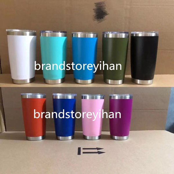 2019 HOT SALE 11COLORS Top Quality 30 20 Cup Stainless Steel Tumblers oz Large Capacity Sports Cups best quality Mugs by DHL