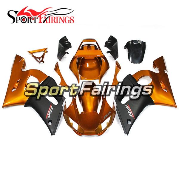 Altın Siyah Kaporta Yamaha YZF-600 R6 Yıl 1998 1999 2000 2000 2001 2002 YZF R6 1998-2002 Için Komple Plastik Fairing Kiti ABS Kaportalar Yeni
