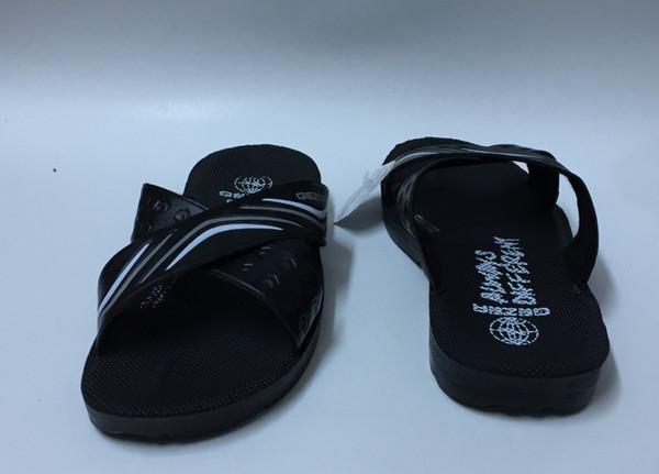 Gezer Negro Cruz Moderno Hombres Zapatillas Buque de Turquía HB-001615501