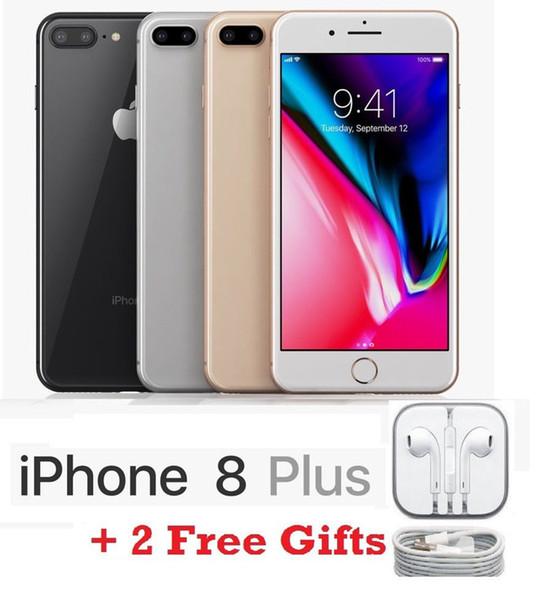 "Apple iPhone 8 Plus Factory Unlocked Smartphone 64GB 256GB Two Camera 4G LTE 5.5"" Quad Core Refurbished Phone 8 Plus"