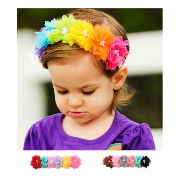 Enfants Bébé Bébé Princesse Maille Fleur Fille Bande De Cheveux Bandeau Chapeaux Accessoires