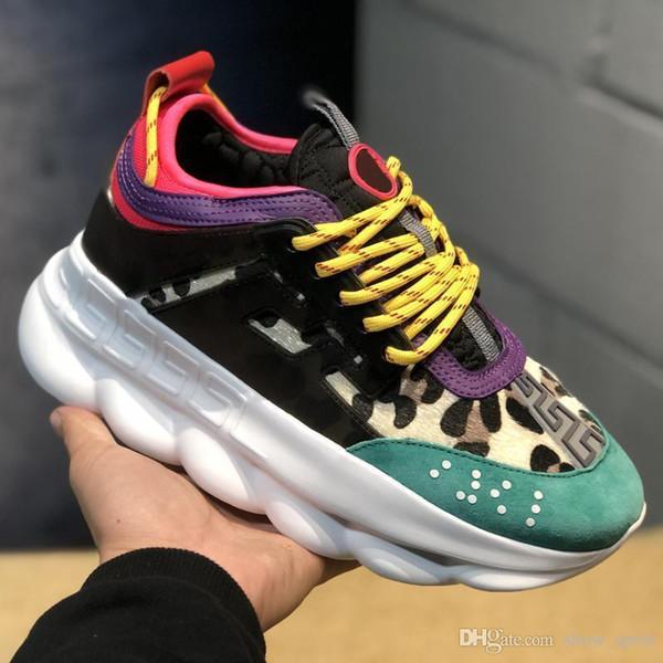 w4 Nuove scarpe di reazione a catena Suola con goffratura di collegamento Moda donna di lusso Casual Designer Designer Uomo Donna Scarpe Sport Sneakers
