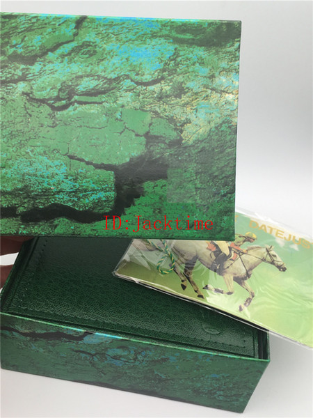 Top Quality Green Original Watch Box Card Paper Boxes For 116660 116610 116710 Man Woman Gift Real Wood Watches box