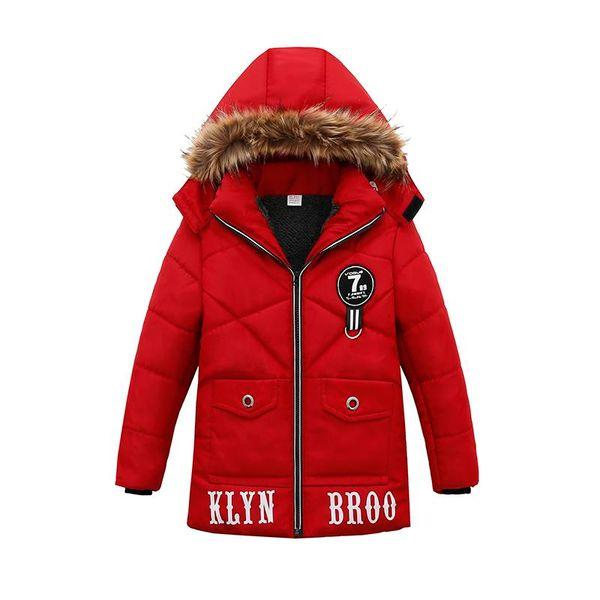 Bebê menino 2018 jacketcoat inverno quente com capuz coatoutwear carta crianças menino longo casaco jaqueta crianças roupas crianças roupas