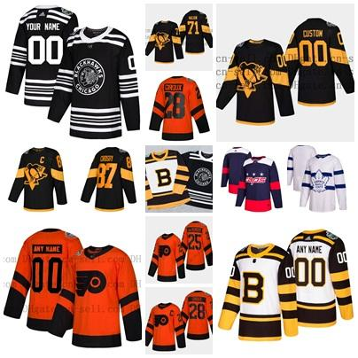961dda00f97 2019 Stadium Series Winter Classic Hockey Jersey Goalie Cut Any Name & NO. own  design Chicago-Blackhawks Pittsburgh Flyers Leafs Capitals