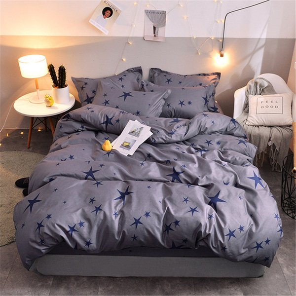 Flowers Stripes Bedding Duvet Cover Set Quilt Cover Twin Queen King Sizefree shipping