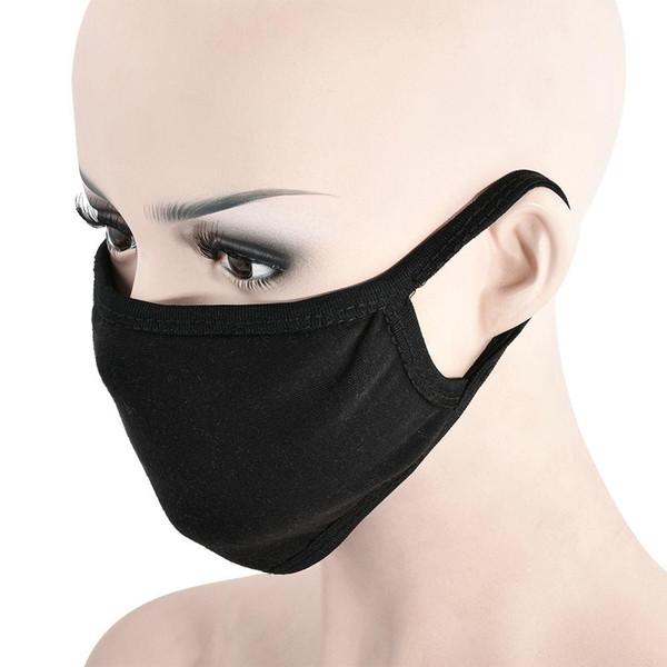 Unisex Anti-Toz Grip Ağız Yüz Maskesi Pamuk Sıcak Cerrahi Maske Maske Siyah