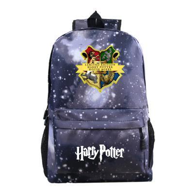 best selling Harry Potter School Bag Backpack Student Luminous School Bag Notebook Backpack Boys Leisure Daily Cartoon Backpack