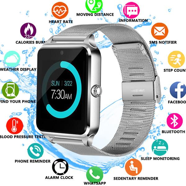 Reloj inteligente Z60 GT09 Hombres Mujeres Bluetooth Reloj de pulsera SmartWatch Soporte SIM / TF Reloj de pulsera para teléfono Apple Android PK DZ09