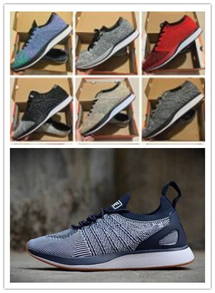 2018 Zoom Mariah Fly Racer 2 Women Mens Athletic all black red green Casual Shoes weaving Zoom Racer Size 36-45
