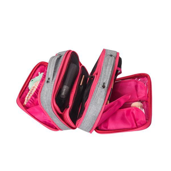 Bolsas de almacenamiento de cosméticos multifuncionales Organizador de viaje para mujeres Kit de maquillaje de tocador Pinceles Bolsa Paquete Estuche Accesorios