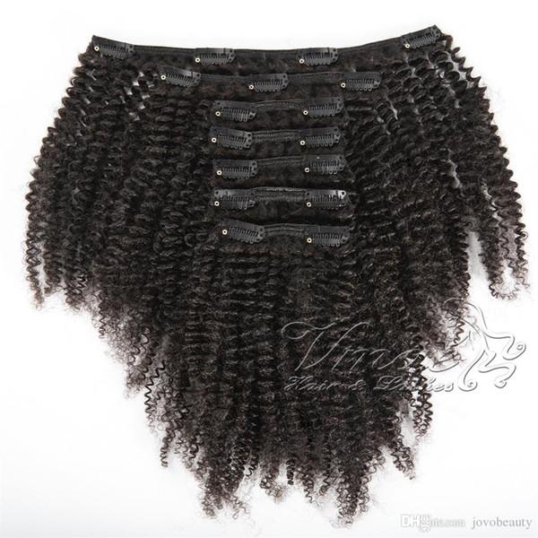 La cutícula peruana del pelo alineó negro lleno Virgen natural 100g Cliente modificado para requisitos particulares Clip rizado rizado en extensiones del pelo