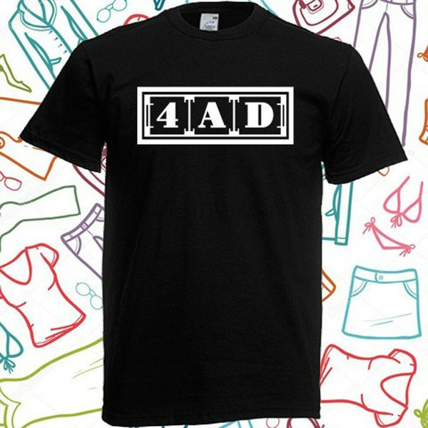 4AD discografica logo Mens maglietta nera taglia S alla 3XL