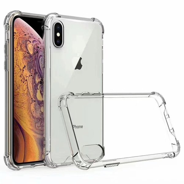 Transparent Acrylic Hybrid TPU Armor PC Back Case For iPhone 2019 XS Max XR X 8 7 6 Samsung S9 Plus S10 S10e Note 9 10 Pro A7 A9 A750 2018