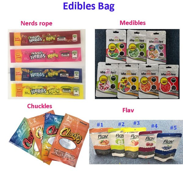 top popular 710 Edibles Packaging Mylar Bag Smell Proof Package 420 Chuckles Medibles NeRds ROPE Flav Infused Candy Gummies Packaging Bag for Candy F 2020