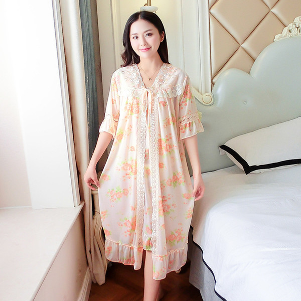 2pcs Sets Nightdress + Night Gown Sexy Faux Silk Sleeveless Nighties Sleepwear Nightwear Nightshirt Couple Pajamas For Women