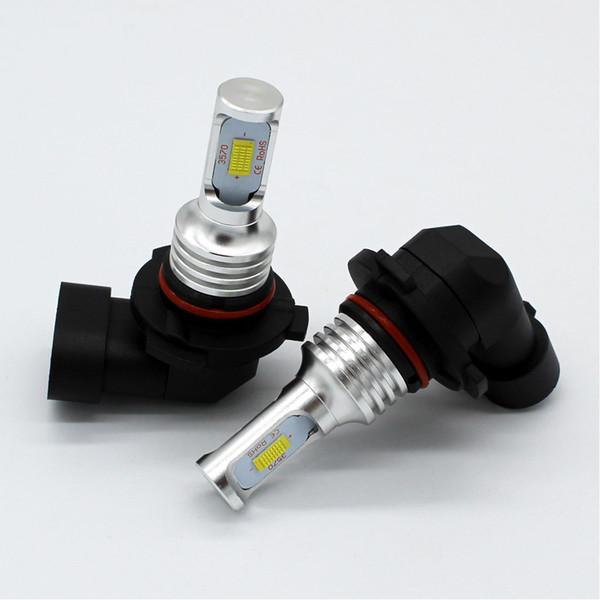 LED Fog Light Bulb 3570 Chips 80W 12V 1600LM 9005/HB3 LED Fog Lamp Bulbs White 6000K/Gold 3000K Lights For Car