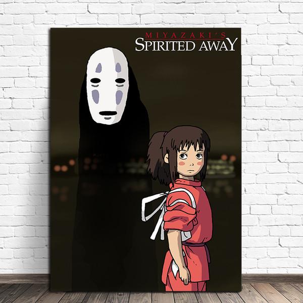 Chihiro und kein gesicht leinwand spirited weg drucken bild modulare gemälde für wohnzimmer poster an der wand hause kinderzimmer dekor