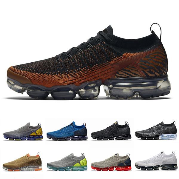 Nike Air Vapormax Flyknit 2.0 Shoes Hombre Zapatillas De Deporte Para Hombre Blanco Y Negro Entrenadores Deportes Funcionamiento 2 Zapatos Para