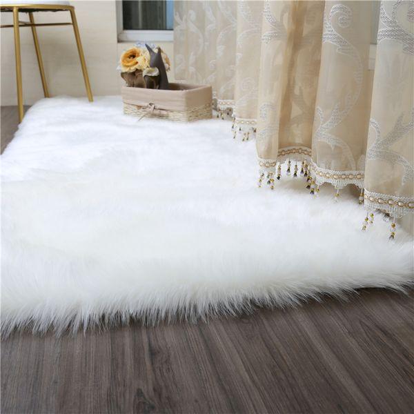 White Faux Fur Rug Soft Faux Sheepskin Carpets For Living Room Bedroom Big  Area Rugs Shaggy Fur Plush Long Hair Solid Mat/Carpet Beaulieu Carpets ...