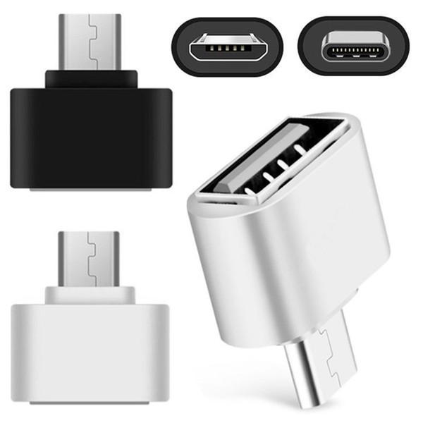 C tipi USb C Mikro USb Otg Adaptörü Erkek Kadın akıllı telefon için, cep telefonu USB Flash Fare Klavye bağlamak