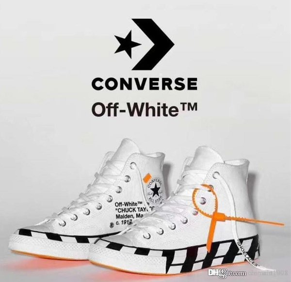2018 New Off Converses Canvas Shoes All White Black High Top Chaussures zapatos Men Women Running Breathable Shoes 1970S Abloh Star Sneakers