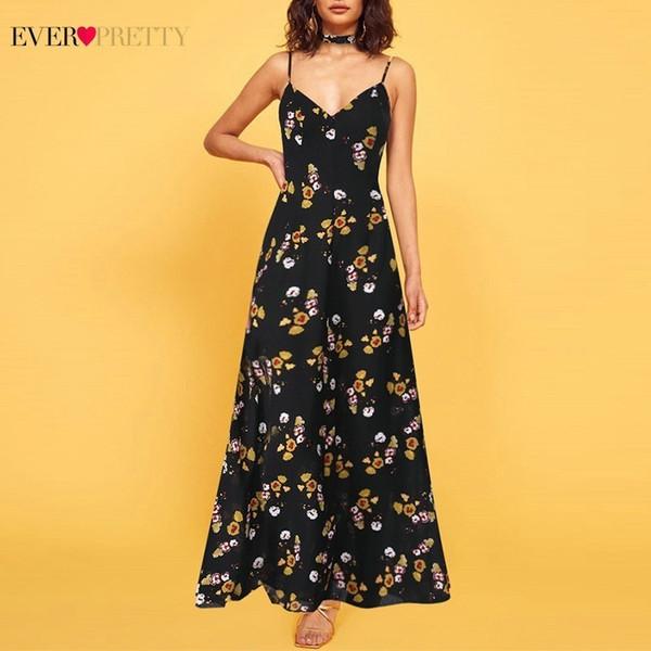 Longues robes de demoiselle d'honneur noires jamais jolie une ligne v-cou bretelles spaghetti femmes élégantes mariage robes invité Sukienki Na