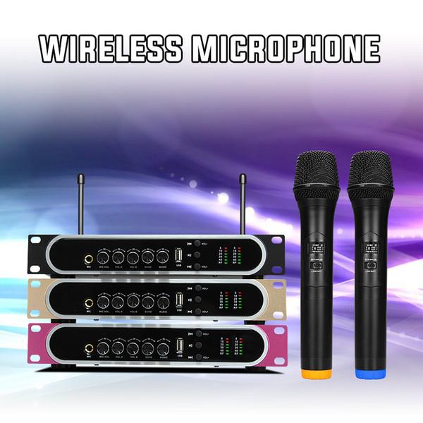 Microfone Sem Fio UHF portátil com USB Reverb chargeble microfone de mão para Família Karaoke Subwoofer de alto-falante Multimídia DVD player