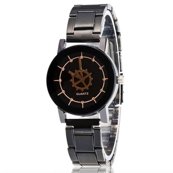 Moda delgado relojes de cuarzo analógico con la venda de acero de pulsera de moda los relojes baratos Parejas simple y ElegantZLF-0176