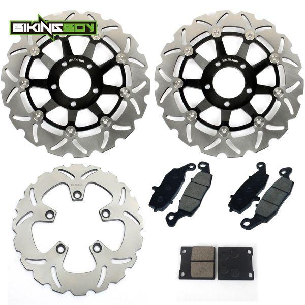 top popular BIKINGBOY Front Rear Brake Discs Disks Rotors Pads GSF 600 Bandit S 00 01 02 03 04 GSF600 SV650S GSX750F SV 650 S 1999-2002 Set 2020