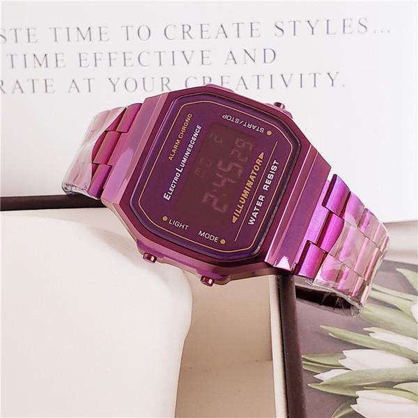 Hot Sale Gift Luxury Wristwatch For Men Women 34mm Black Blue Plating  Square Design Luxury Watch Famous Brand Digital Display Alarm Watch Unique