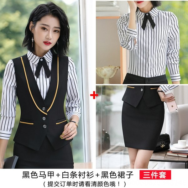 colete preto + camisa listrada branca + preta