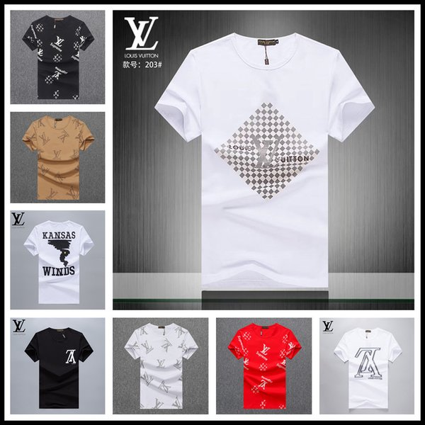 on feet at latest trends top design Wholesale Plus Size 4XL Men'S T Shirt Paris Letter Print Logo Men'S Summer  Tshirt Short Sleeve White Black Blue Grey Designer Shir Awesome Tee Shirts  ...
