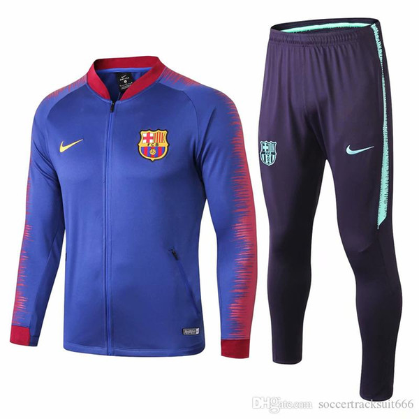reputable site bec79 53981 2018 Free DHL 18 19 Barcelona Blue Jacket Kits 2018 2019 FCB Sportswear  Messi Tracksuits Coutinho Training Suits Barcelona Soccer Jersey From  Mbapp, ...