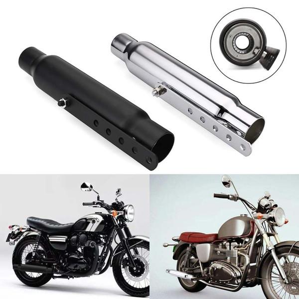 Универсальный Мотоцикл Кафе Racer Выхлопная Труба Глушитель Хвост Трубы Для Bobber Для CRF230F CRF150F
