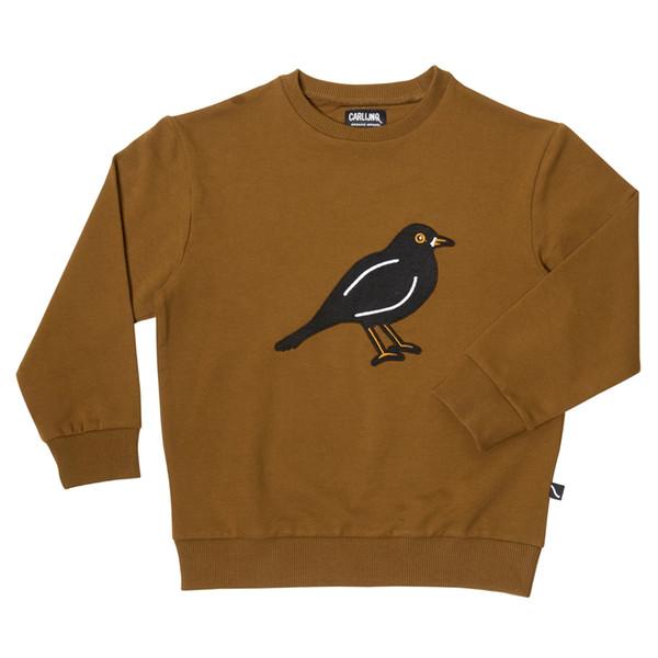 camisola pássaro marrom