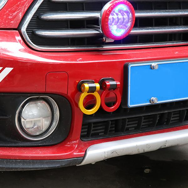 Bunte Racing JDM ABS Dekoration Aufkleber Abschlepphaken Anhänger Ring Vorne Hinten Für MINI Cooper One S Auto Styling Zubehör