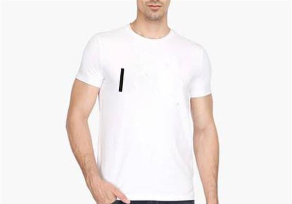 Mens Designer Lettre Imprimé T-shirts manches mode Shorts d'été T-shirts Crew Mens Casual Neck Tops simples