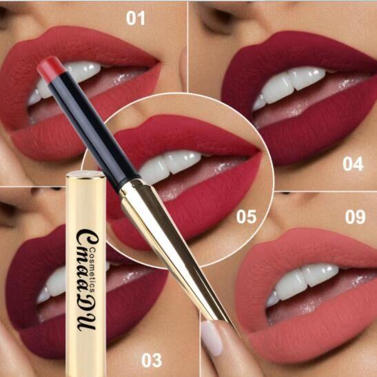 Matte Sexy lip stick Nonstick Cup 8 colors Long Lasting Waterproof Makeup Lipstick good selling supply