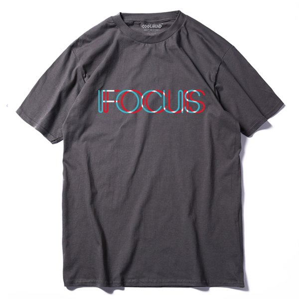 QI0231A casual loose summer T shirt for men tops tees 100% cotton short sleeve fucus printed funny men Tshirt